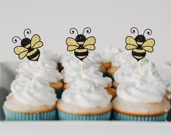Bee Cupcake topper, bee cupcake topper, Birthday cupcake topper,bee party, baby shower, bee baby shower