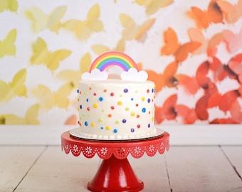 Rainbow Cake Topper Etsy