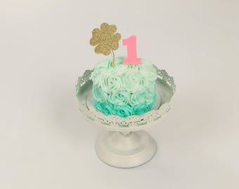 St. Patricks Day Cake Topper, Cake Topper, shamrock cake topper, St. Patrick's Day party, lucky one cake topper, first birthday cake topper