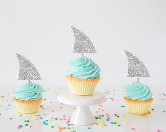 Shark cupcake topper, Shark cupcake, Shark week, Shark smashcake topper, smash cake topper, fish cake topper