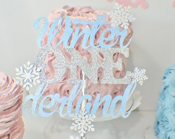 winter onederland cake toper, snowflake cake topper, Winter one-derland cake topper, winter wonderland birthday, smashcake topper