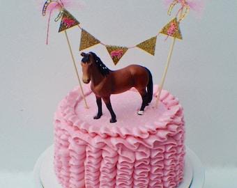 Horse Cake topper, Banner, Cake Banner, Horse party, Cake topper, smashcake topper