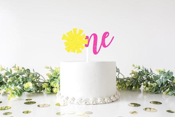 sunshine  sun  smash cake  cake topper  first birthday