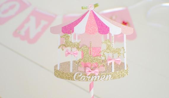 Remarkable Carousel Cake Topper Horse Cake Topper Carousel Horse Cake Personalised Birthday Cards Akebfashionlily Jamesorg