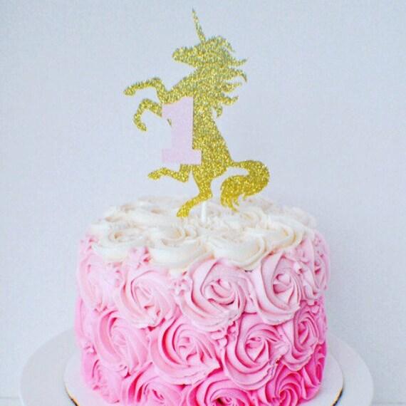 Anniversaire en bois ou Acrylique Découpe Seperate Unicorn Horn et oreilles cake topper