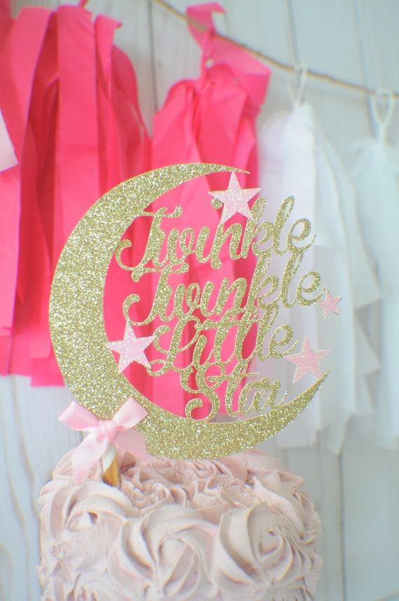 Astonishing Twinkle Little Star Cake Topper First Birthday Cake Topper One Funny Birthday Cards Online Elaedamsfinfo