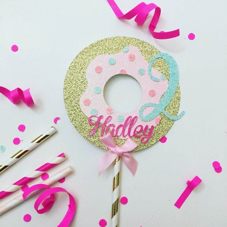 Donut cake topper, Donut grow up cake topper, Donut smas ...