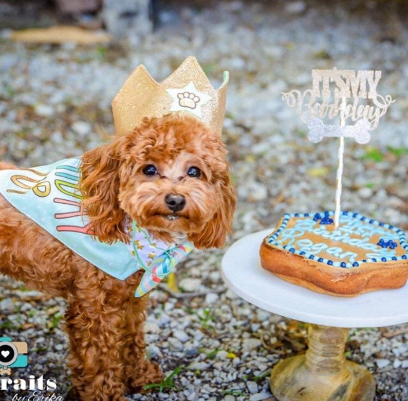 Barkday Cake Topper Dog Birthday