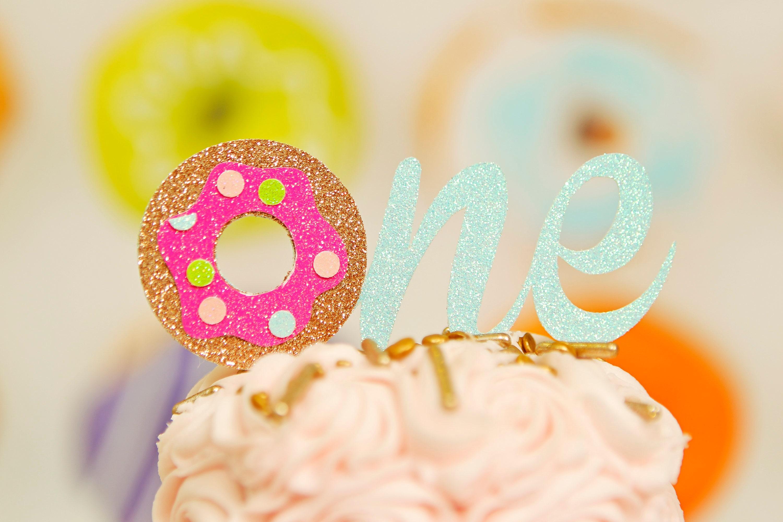 Donut cake topper, Donut grow up cake topper, Donut smash ...