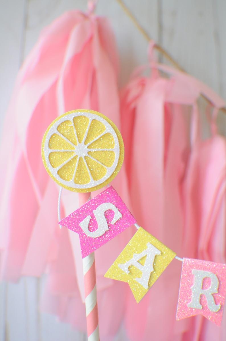 lemonade cake topper tutti frutti cake topper smashcake topper Lemon Cake Topper lemonade party Lemon smashcake topper