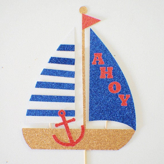 Nautical Sailboat Cake Topper