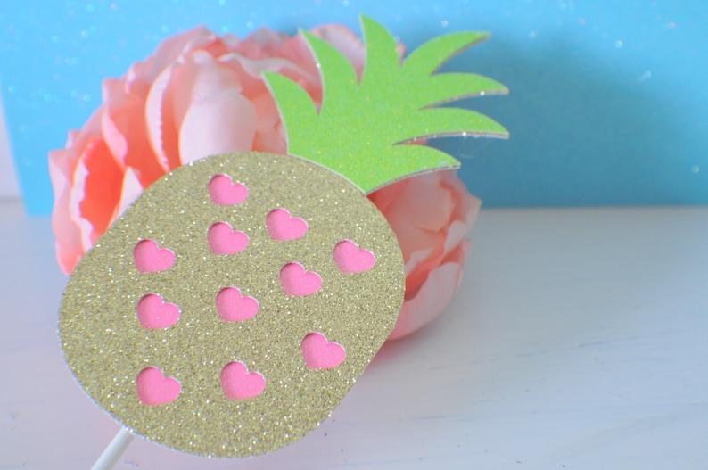 Pineapple cake topper Hawaiian cake topper luau cake ...