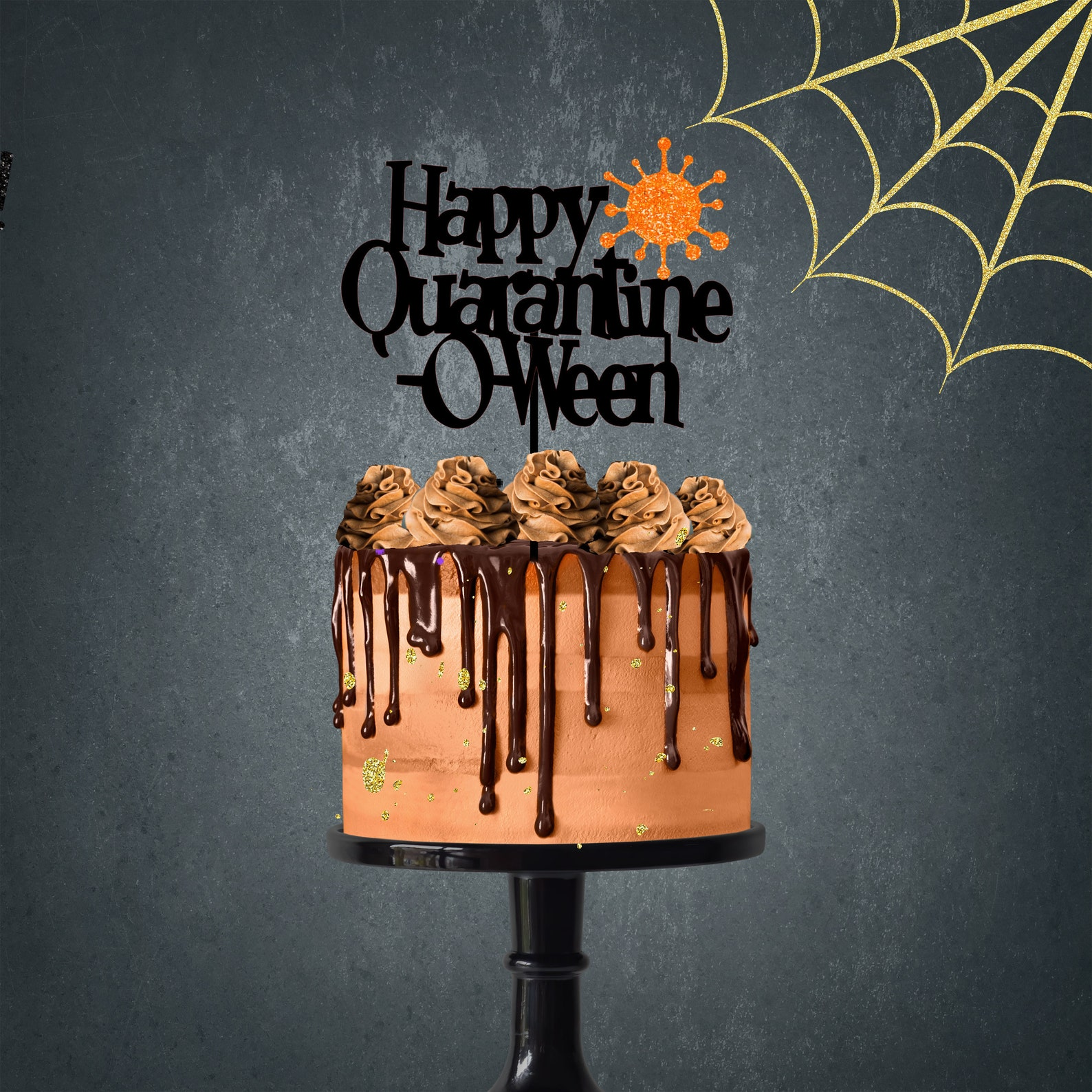 Quarantine-O-Ween Cake Toppers