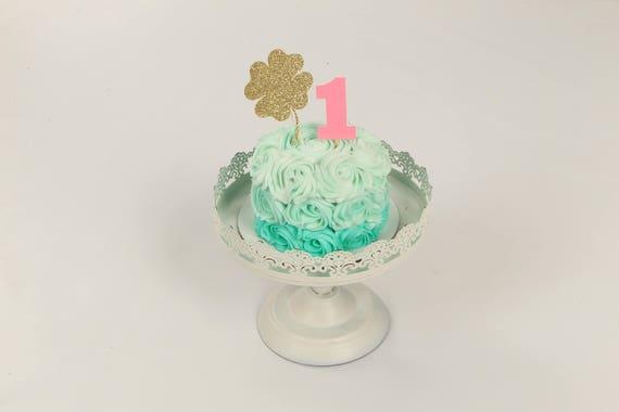 Incredible St Patricks Day Cake Topper Cake Topper Shamrock Cake Topper Birthday Cards Printable Trancafe Filternl