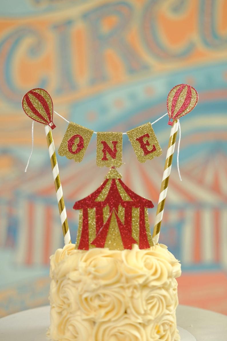 Vintage Circus Cake Topper Circus Cake Topper Circus Party