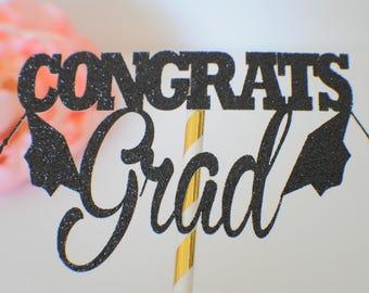 Graduation Cake Topper, Grad cake topper, Graduation 2017