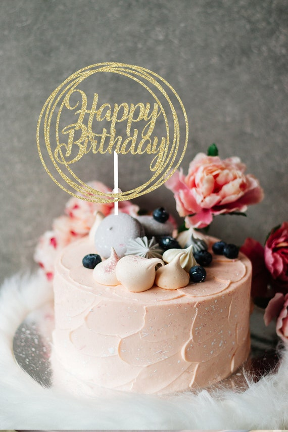 Awe Inspiring Happy Birthday Cake Topper Cake Topper Happy Birthday Birthday Personalised Birthday Cards Xaembasilily Jamesorg