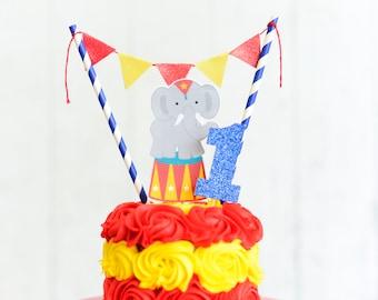 Circus Cake Topper, circus party, circus party decor, circus smash cake topper, smash cake topper, elephant cake topper, circus smash cake