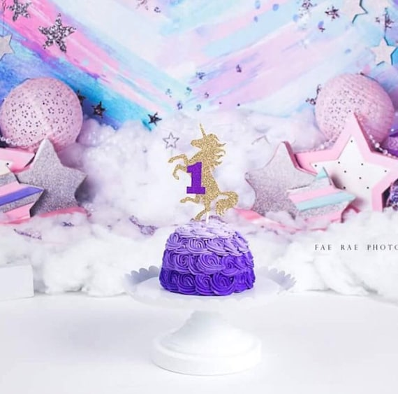 Einhorn Kuchen Deckel Einhorn Party Deko Einhorn Kuchen Etsy