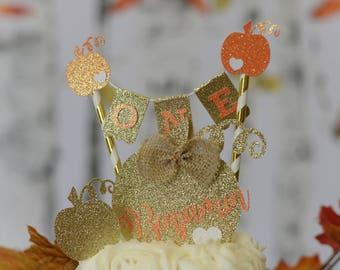 Pumpkin Cake Topper, Halloween Cake topper,pumkin smask cake topper