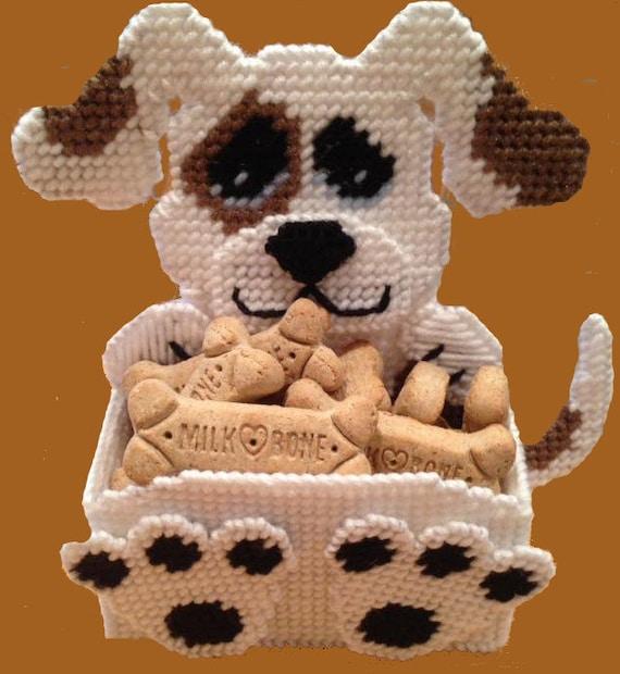 Treat Holder-Plastic Canvas Pattern or Kit Dalmatian Dog