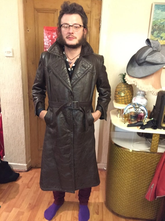 Sale Amazing brown leather 1940s vintage man jacke