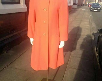 SALE Beautiful volup 1950s/60s most amazing coral Jaeger wool jacket