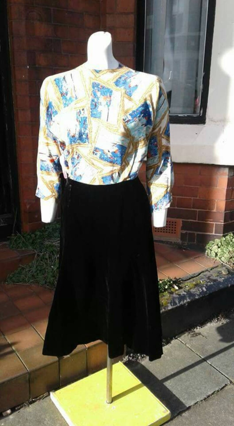 Beautiful black velvet 1930s 40s skirt great practical separates getting harder to find
