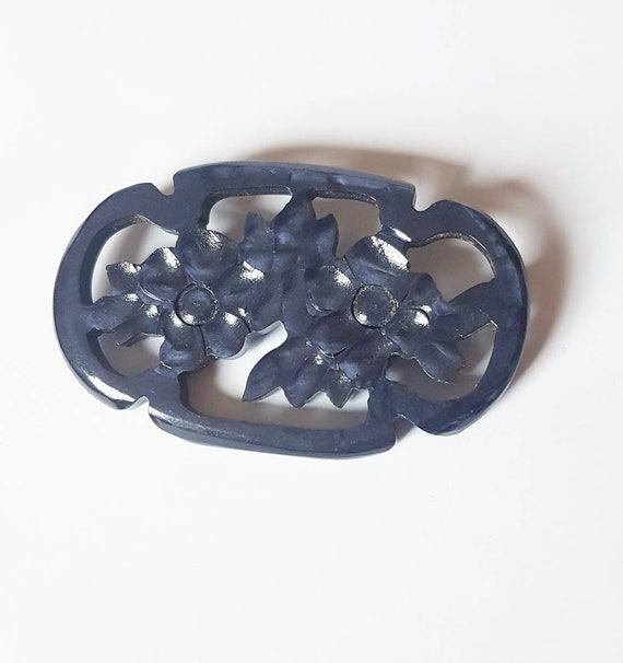 Gorgeous 1930s 40s early plastic navy brooch