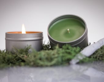 """Marijuana - """"Ganja"""" Scented Soy Candle - Perfect Gift for the Pot Smoking Lover - Soothing and Calming Marijuana Scented Candle"""