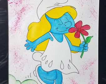 Little Blue Ray of Sunshine - Smurfette