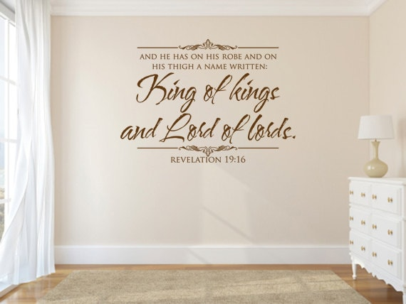 King of Kings and Lord of Lords, CODE 133, Vinyl Bible Verse