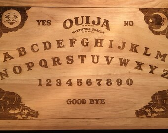 Ouija Board Wooden Etched Chopping Cutting Board