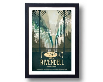lord of the rings poster etsy