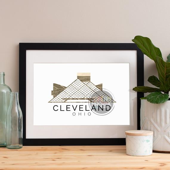 Cleveland Print, Cleveland Skyline, Cleveland Art, Cleveland Poster, Cleveland Watercolor, Cleveland Art Print, Cleveland Map, Cleveland