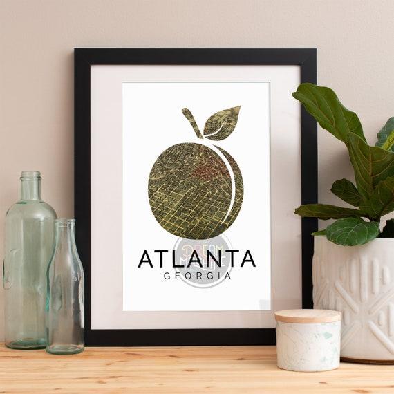 Atlanta Print, Atlanta Skyline, Atlanta Art, Atlanta Poster, Atlanta Watercolor, Atlanta Art Print, Atlanta Map, Atlanta Wall Art, Georgia