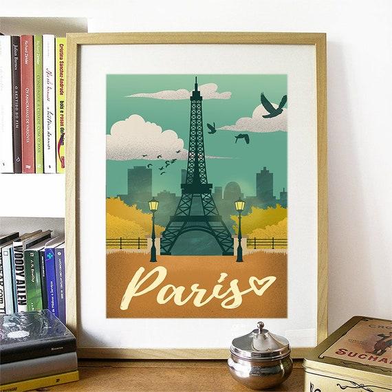 Paris Print, Paris Skyline, Paris Art, Paris Poster, Paris Watercolor, Paris Art, Paris Map, Paris Wall Art, France Art