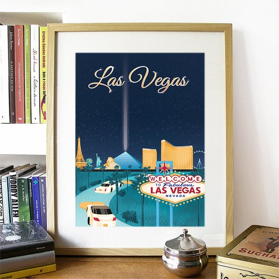 Las Vegas Print, Las Vegas Skyline, Las Vegas Art, Las Vegas Poster, Las Vegas Watercolor, Las Vegas Art, Las Vegas Map, Las Vegas Wall Art