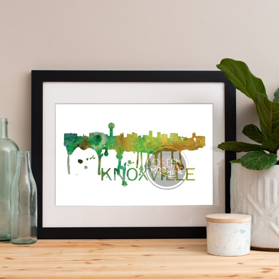 Knoxville Watercolor Skyline, Knoxville Skyline, Knoxville Art, Knoxville Poster, Knoxville Print, Knoxville Art, Knoxville Map, Knoxville