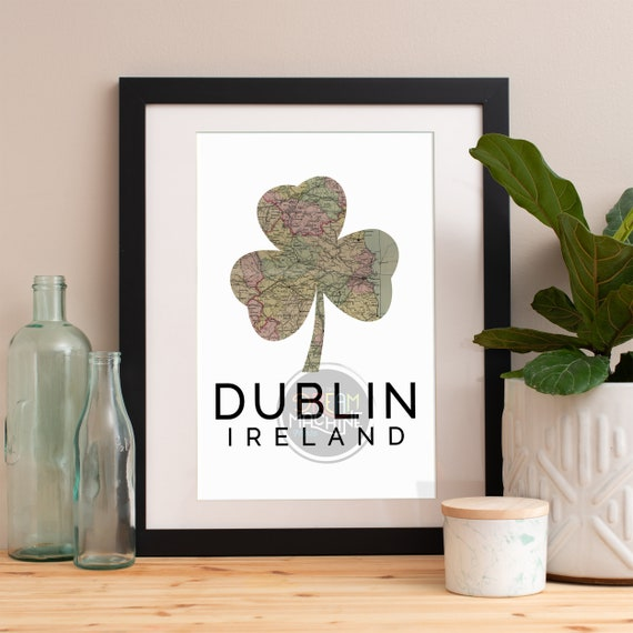 Dublin Print, Dublin Skyline, Dublin Art, Dublin Poster, Dublin Watercolor, Dublin Art Print, Dublin Map, Dublin Wall Art, Dublin Ireland