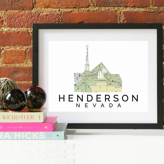 Henderson Print, Henderson Skyline, Henderson Art, Henderson Poster, Henderson Watercolor, Henderson Art Print, Henderson Map, Henderson Art