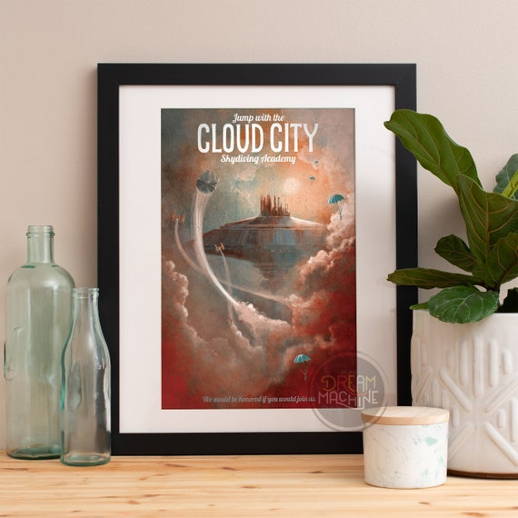 Star Wars Art, Star Wars Wall Art, Star Wars Cloud City, Cloud City, Star Wars Gift, Star Wars Art Print, Star Wars Poster, Star Wars Print