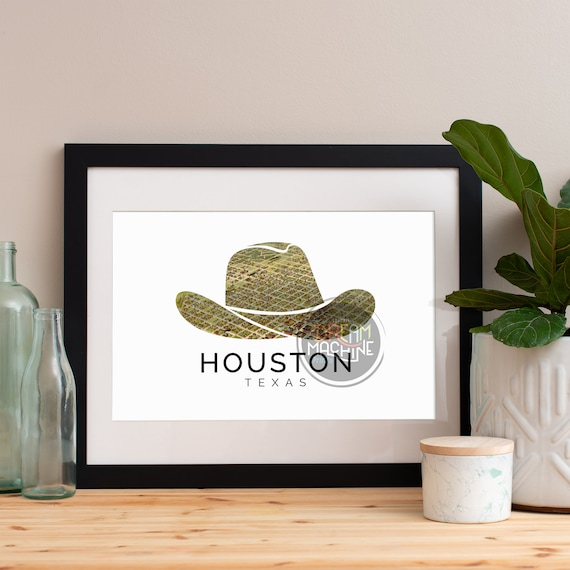 Houston Print, Houston Skyline, Houston Art, Houston Poster, Houston Watercolor, Houston Art Print, Houston Map, Houston Wall Art, Texas Art