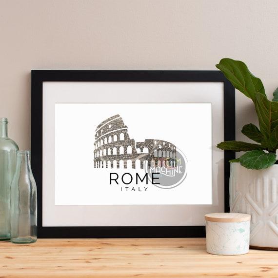Rome Print, Rome Skyline, Rome Art, Rome Poster, Rome Watercolor, Rome Art Print, Rome Map, Rome Wall Art, Italy Art