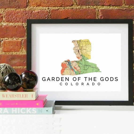 Garden of the Gods Print, Garden of the Gods Skyline, Garden of the Gods Art, Garden of the Gods Poster, Garden of the Gods Watercolor