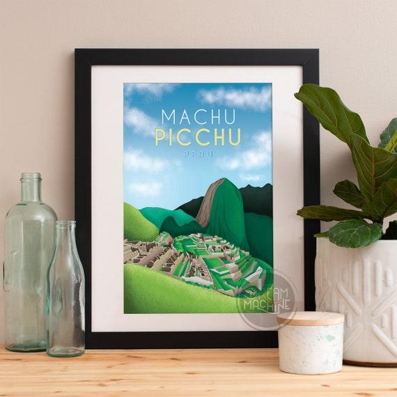 Machu Picchu Print,Machu Picchu Skyline,Machu Picchu Art,Machu Picchu Poster,Machu Picchu Watercolor,Machu Picchu Art Print,Machu Picchu