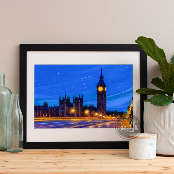 London Big Ben Art, London, London Skyline, London Art, London Poster, London Print, London Art, London Map, London Wall Art, England Art