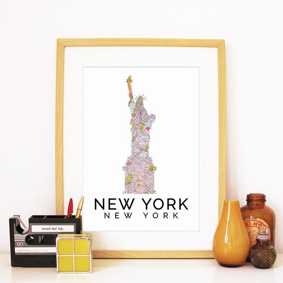 New York City Print, New York City Skyline, New York City Art, New York City Poster, New York City Watercolor, New York City Art