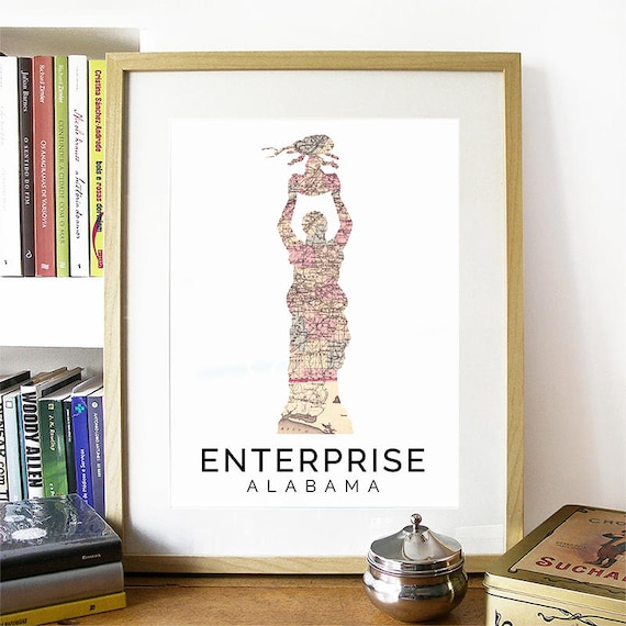 Enterprise Print, Enterprise Skyline, Enterprise Art, Enterprise Poster, Enterprise Watercolor, Enterprise Art Print, Enterprise Map