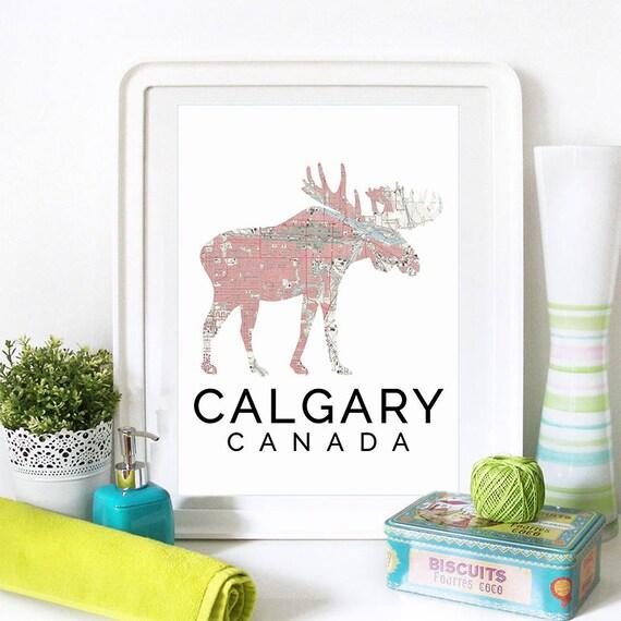 Calgary Print, Calgary Skyline, Calgary Art, Calgary Poster, Calgary Watercolor, Calgary Art Print, Calgary Map, Calgary Wall Art